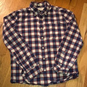 Abercrombie & Fitch muscle button down plaid SMALL